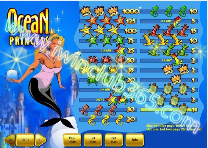 iWinClub365 - Slots Games - OK388 - Ocean Princess Slot ...